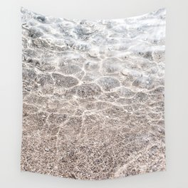 Clear sea with sun reflections Wall Tapestry