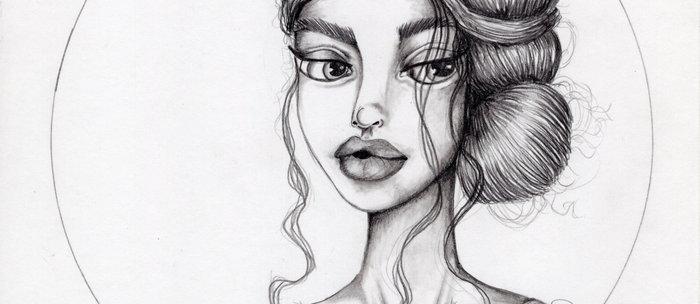 JennyMannoArt Graphite Drawing/Nora Coffee Mug