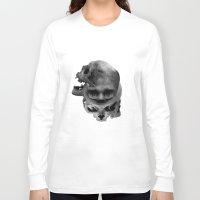 skulls Long Sleeve T-shirts featuring Skulls by TattoosandartbyJared