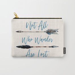 Not All Who Wander Boho Blue Carry-All Pouch