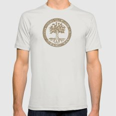 Tree Pattern Mens Fitted Tee SMALL Silver