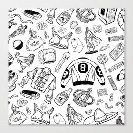 Seinfeld Pattern (White Background) Canvas Print