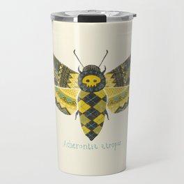 """""""Acherontia atropos"""" Moth Travel Mug"""