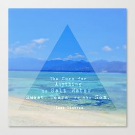 Salt Water Canvas Print