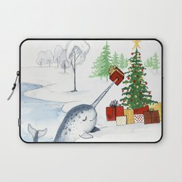 Christmas Narwhal Laptop Sleeve