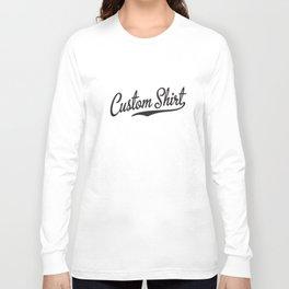 Custom Script Tail Baseball Softball Athletic Sports Old Baseball T-Shirts Long Sleeve T-shirt