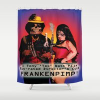 movie poster Shower Curtains featuring Frankenpimp (2009) - Movie Poster by Tex Watt
