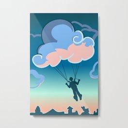 Cloud-parachute Metal Print