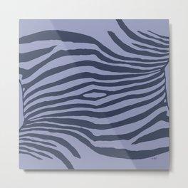 Animal Waves (Cold Mood) Metal Print