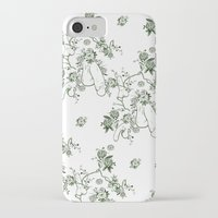 penis iPhone & iPod Cases featuring Penis Pattern GREEN by Daniel McLaren