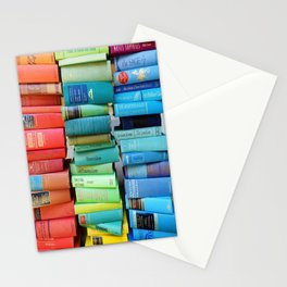 Rainbow Stacks of Vintage Books Stationery Cards