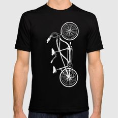 Tandem Bike Black Mens Fitted Tee MEDIUM