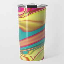 Multi-colored waves Travel Mug