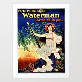 Waterman fountain pens 1919 Art Print