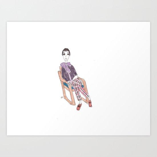 girl in a chair Art Print