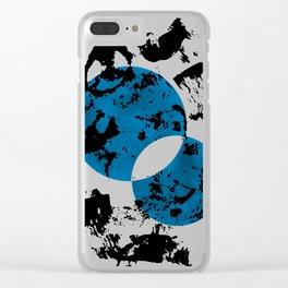 Blue & Black Clear iPhone Case