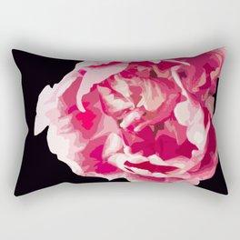 Pink Tulip Flower On A Black Background #decor #society6 #homedecor Rectangular Pillow
