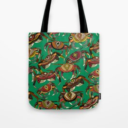 crabs green Tote Bag