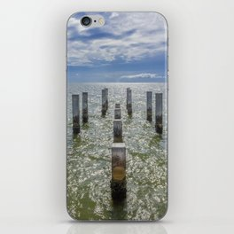 Pieces of an old pier Ship Island, Mississippi iPhone Skin