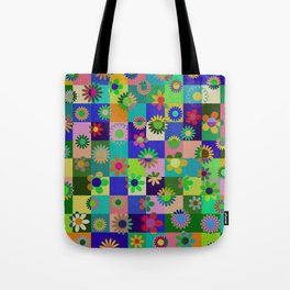 Flowers & Cubes - two Tote Bag
