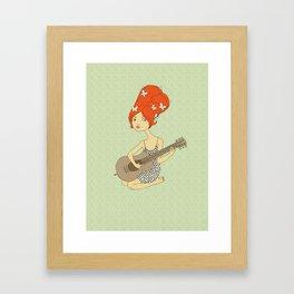 Guitar Girl Framed Art Print