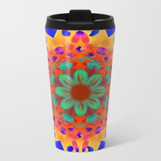 Abstract Flower ZZ WWWAAA Metal Travel Mug