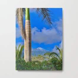 Mount Teide Garden View Metal Print
