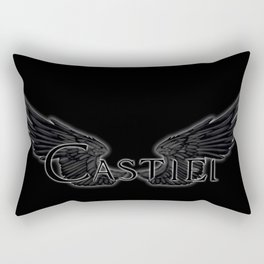 Castiel with Wings Black Rectangular Pillow