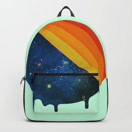 049 Cosmic retro ice cream roll melting Backpack