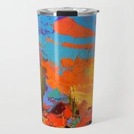 Saguaros Land Sunset Travel Mug
