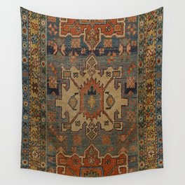 Persia Heriz 19th Century Authentic Colorful Orange Blue Green Vintage Patterns Wall Tapestry