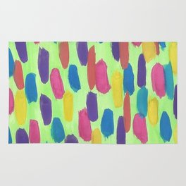 Spring Rain Drops Abstract Rug
