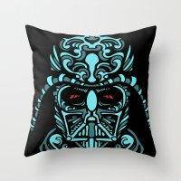 darth Throw Pillows featuring Darth James Darth by Quakerninja