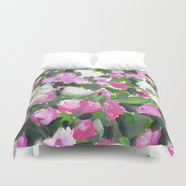 abstract flower painting Duvet Cover