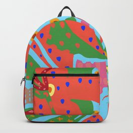 Exotic Flowers In The Glasshouse Backpack