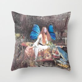 Faerie Ferry Throw Pillow