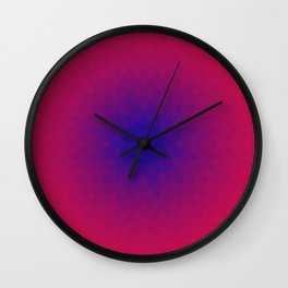 Rotated Hexagons 1 Wall Clock