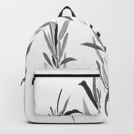Eucalyptus Branches Black And White Backpack