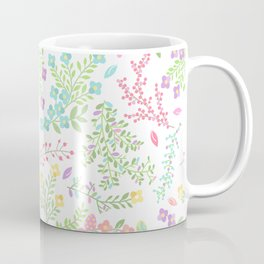 Colorful Easter Flower Pattern - Purple, Pink Green, Blue and Yellow Coffee Mug