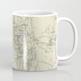 Vintage Map of Jerusalem Israel (1917) Coffee Mug