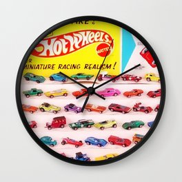 1970's Original Hot Wheels Redline Toy Department Store Display Poster Wall Clock