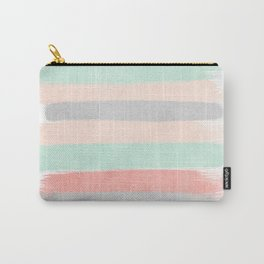 Stripes hand painted abstract minimal nursery decor gender neutral palette Carry-All Pouch