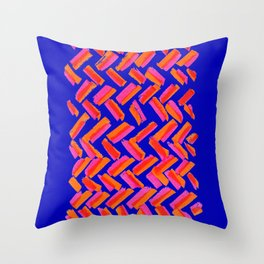 Abstract Primary Brushstrokes Throw Pillow