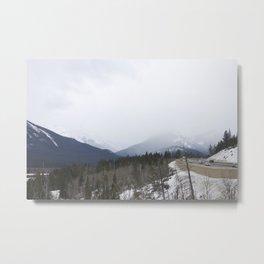 Rocky Mountains roadside lookout Metal Print