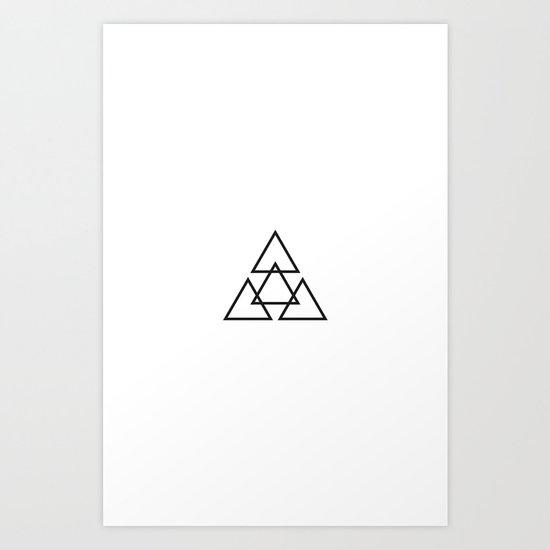 Triangle Star Art Print