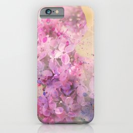 Lilac flowers Watercolor hand painted illustration  iPhone Case