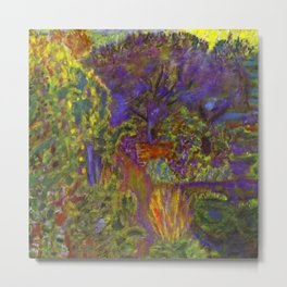 Flower Garden at Midday by Pierre Bonnard Metal Print