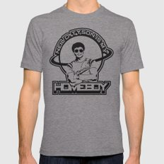 Neil Degrasse Tyson is my Homeboy Tri-Grey LARGE Mens Fitted Tee