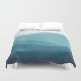 Watercolor Sea | Dip Dye Blues Duvet Cover