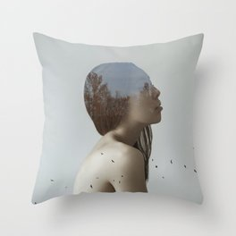 Being in nature Throw Pillow